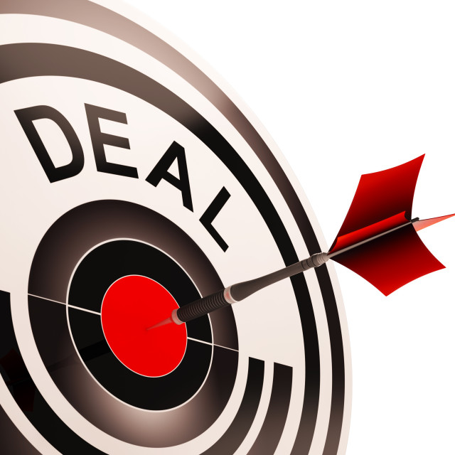 """Deal Shows Bargain Or Partnership Agreement"" stock image"