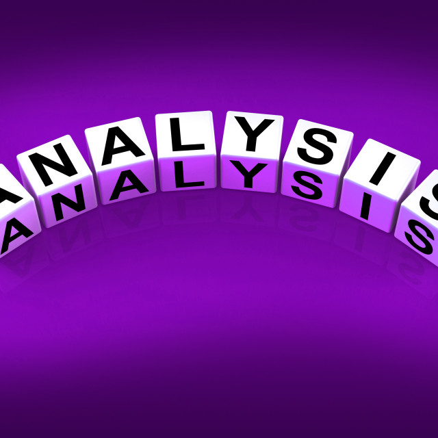 """Analysis Blocks Represent Research Scrutiny Reasoning and Analytics"" stock image"