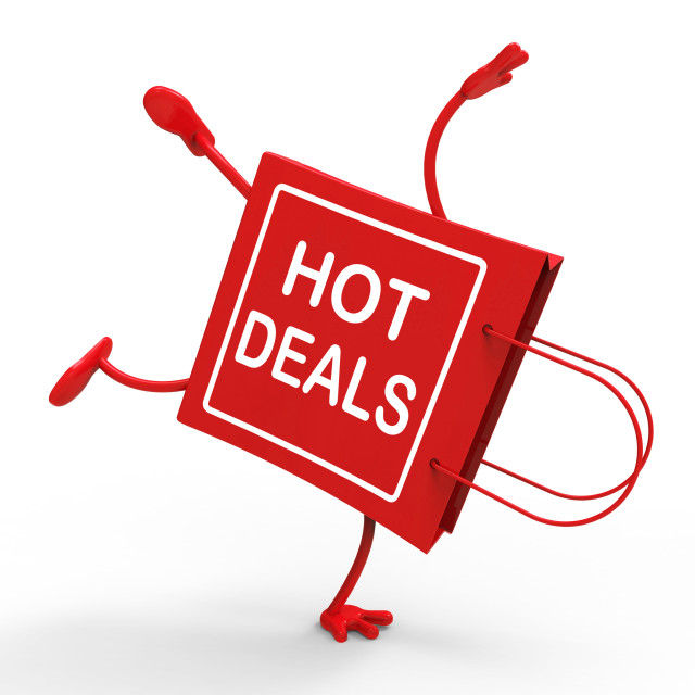 """Hot Deals On Handstand Shopping Bag Shows Bargains Sale And Save"" stock image"