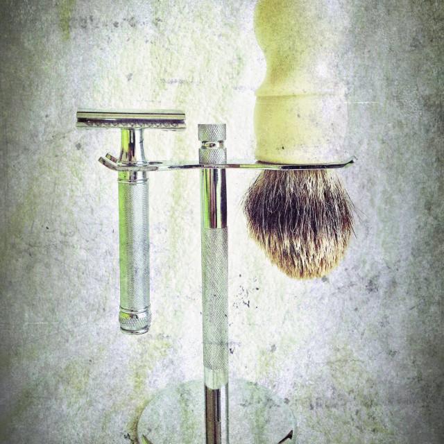 """""""Wet Shaving"""" stock image"""