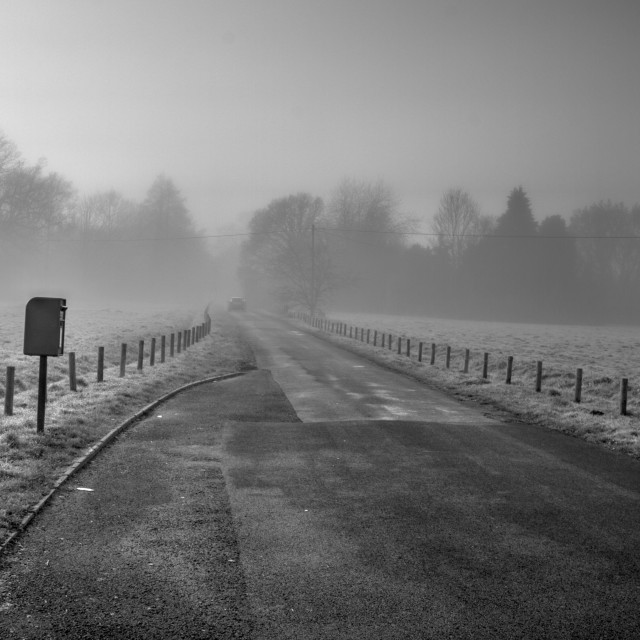 """Foggy Day in Bramley"" stock image"