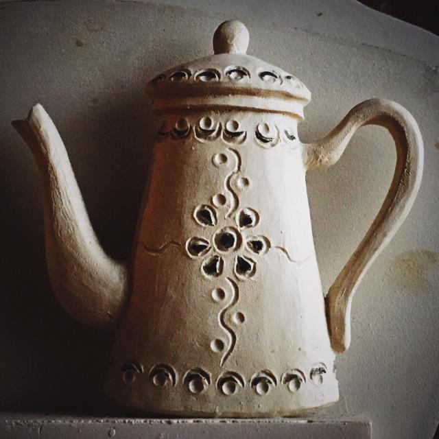 """Ceramic coffeepot"" stock image"