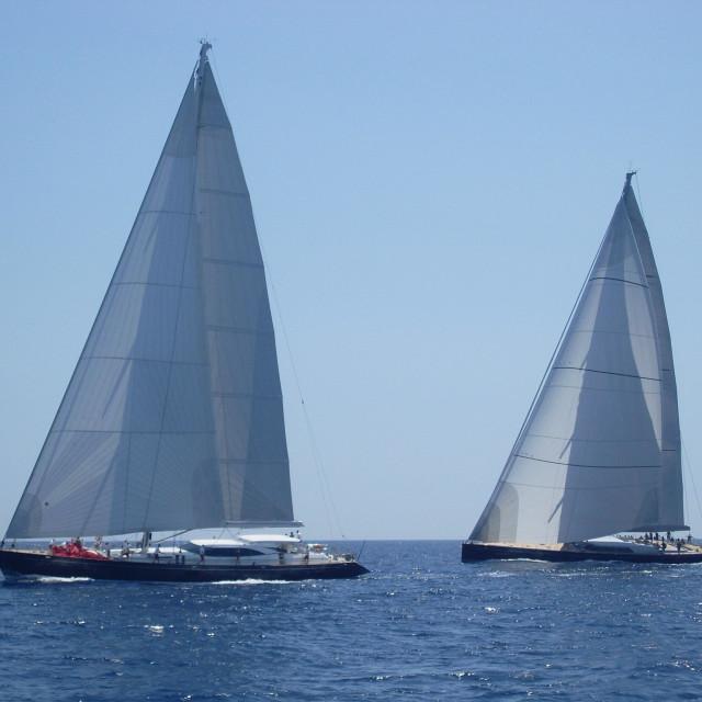 """The Superyacht cup regatta"" stock image"