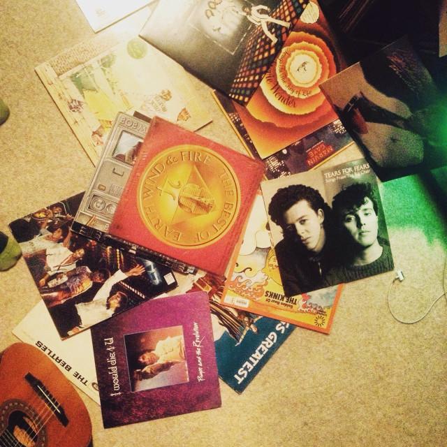 """""""Vinyl albums"""" stock image"""