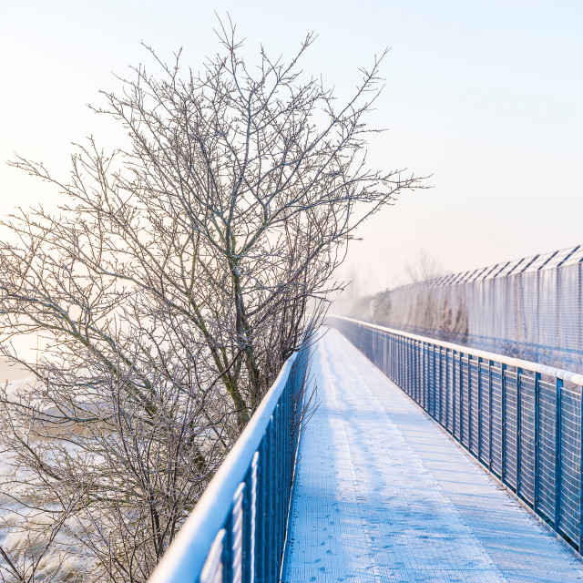 """Frosty walkway"" stock image"