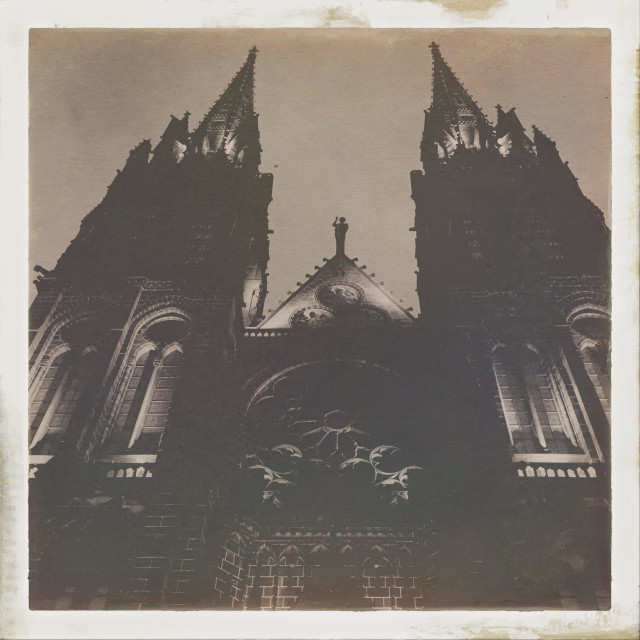 """""""Scary cathedral"""" stock image"""