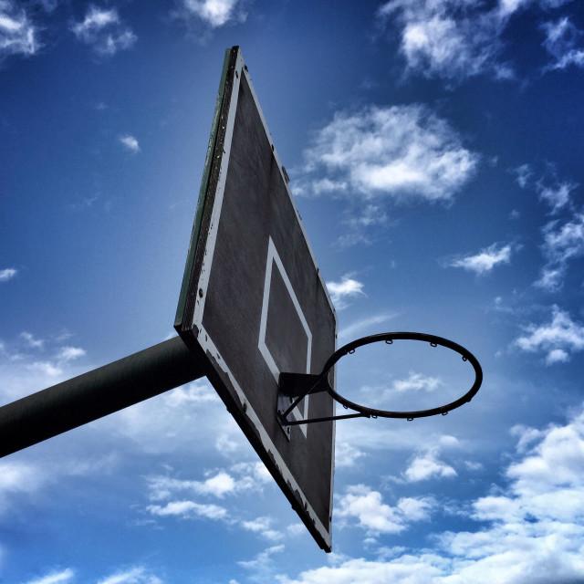 """""""Basketball backboard"""" stock image"""