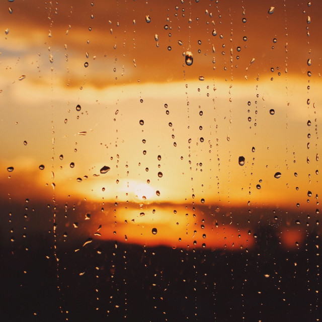 """""""Rainy sunset"""" stock image"""