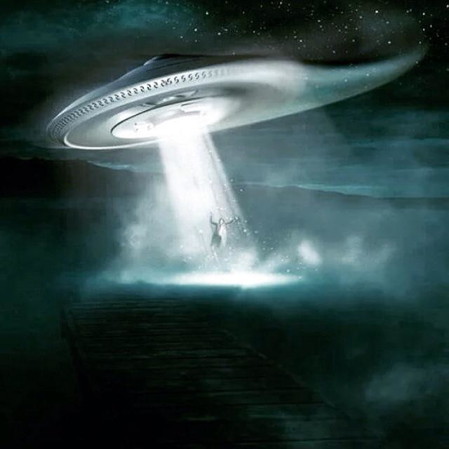 """UFO kidnapping"" stock image"