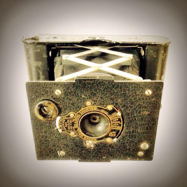 """A classic Kodak camera with bellows"" stock image"