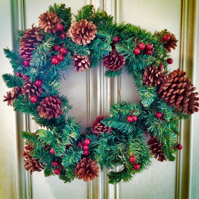 """Christmas wreath"" stock image"