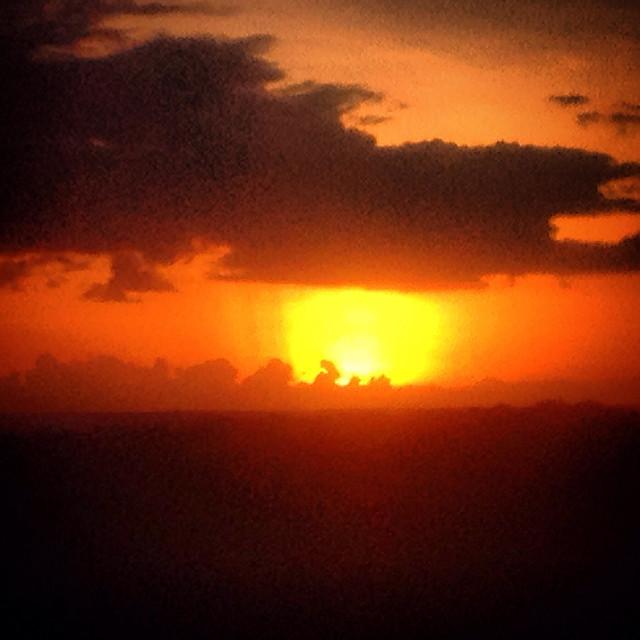 """Sunsen in the Mayan city of Tintal near the Mayan city of Mirador, Peten, Guatemala"" stock image"