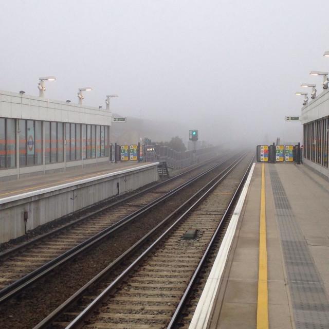 """Homerton tube stop in the list"" stock image"