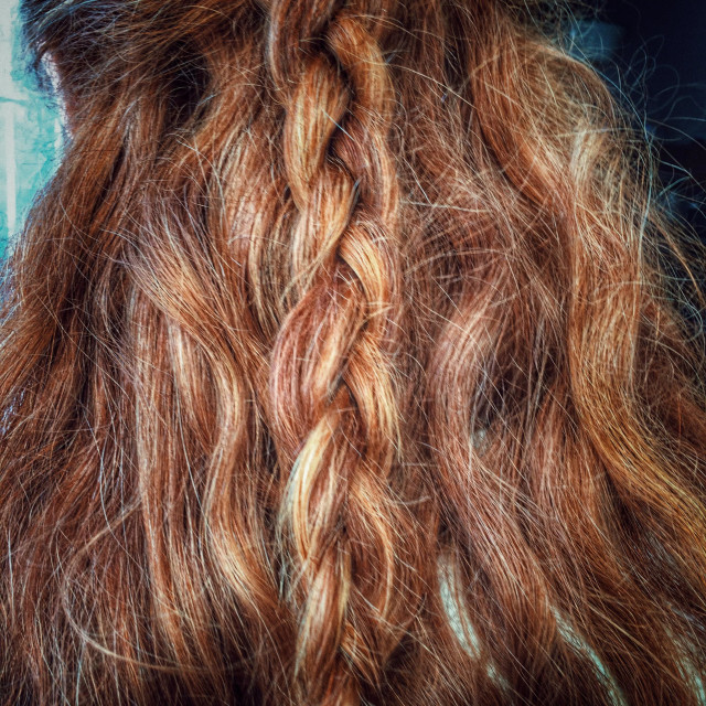 """Platted red hair."" stock image"