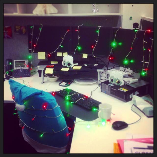 """""""Office Christmas Shenanigans"""" stock image"""