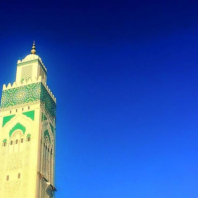 """""""Hassan II mosque in Casablanca"""" stock image"""