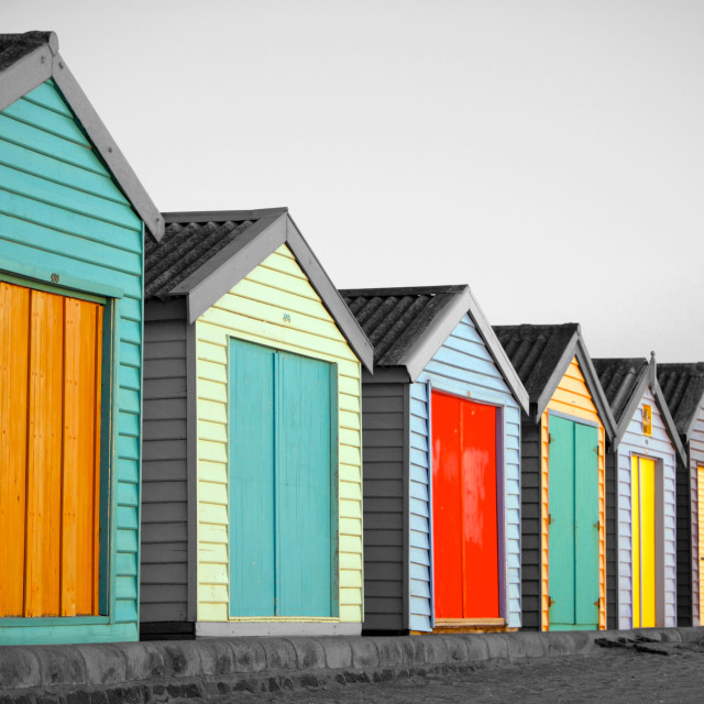 """Beach huts in Melbourne, Australia"" stock image"