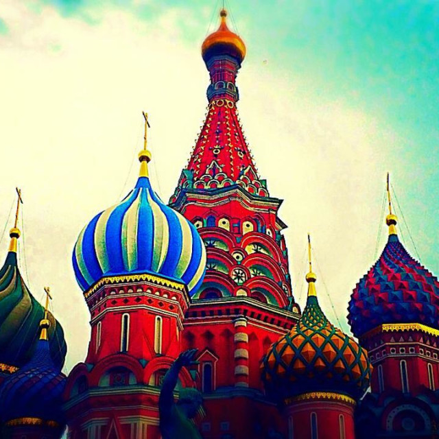 """""""St Basil's cathedral in Moscow"""" stock image"""
