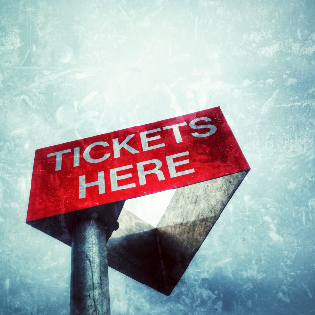 """""""Tickets sign on a parking lot."""" stock image"""