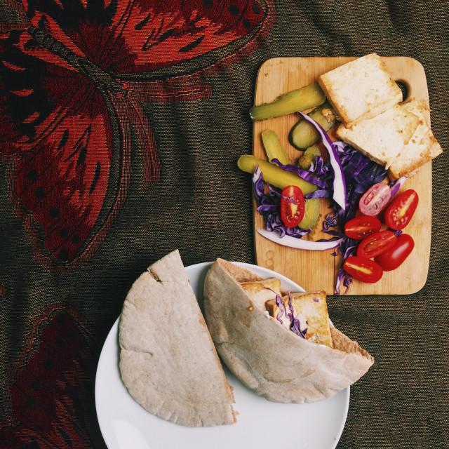 """Vegan pita sandwich"" stock image"