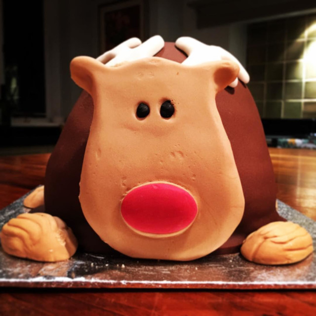 """Festive reindeer cake"" stock image"