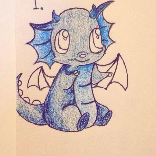 """Baby dragon art"" stock image"