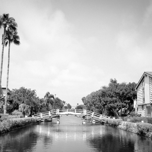 """""""Venice Canal Historic District"""" stock image"""