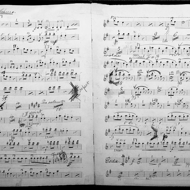 """Music score"" stock image"