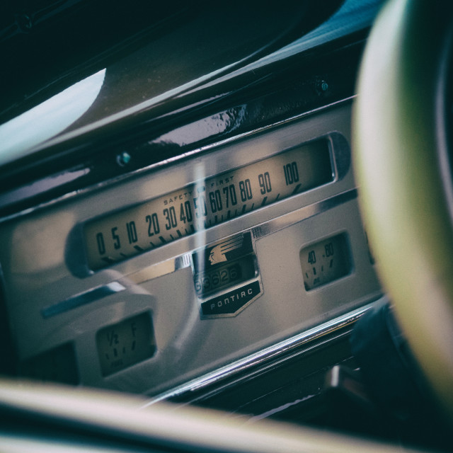 """Pontiac Dashboard"" stock image"