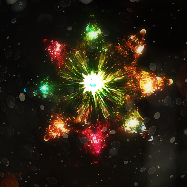"""Vintage star Christmas tree topper"" stock image"