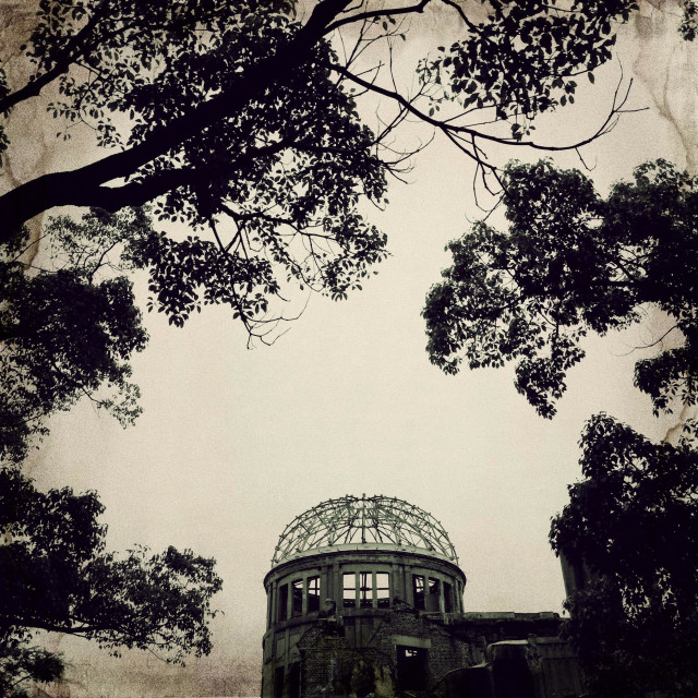 """Hiroshima Atomic Bomb Dome Memorial"" stock image"