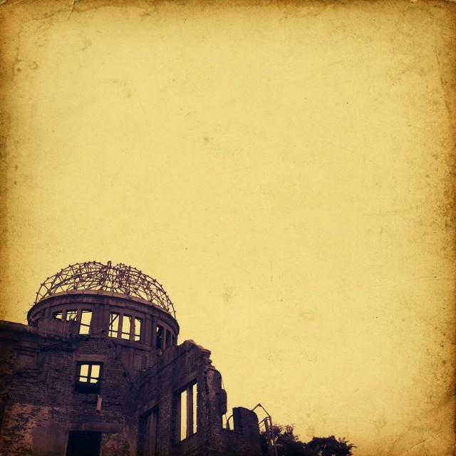 """Hiroshima's Atomic Bomb Memorial Dome"" stock image"
