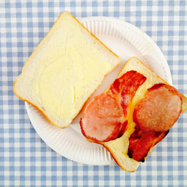 """Bacon sandwich"" stock image"