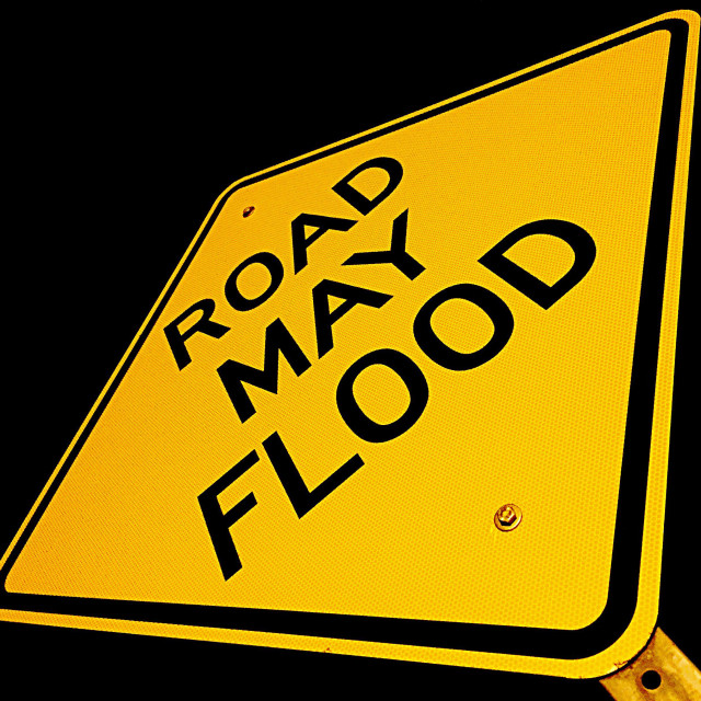 """Road May Flood"" stock image"