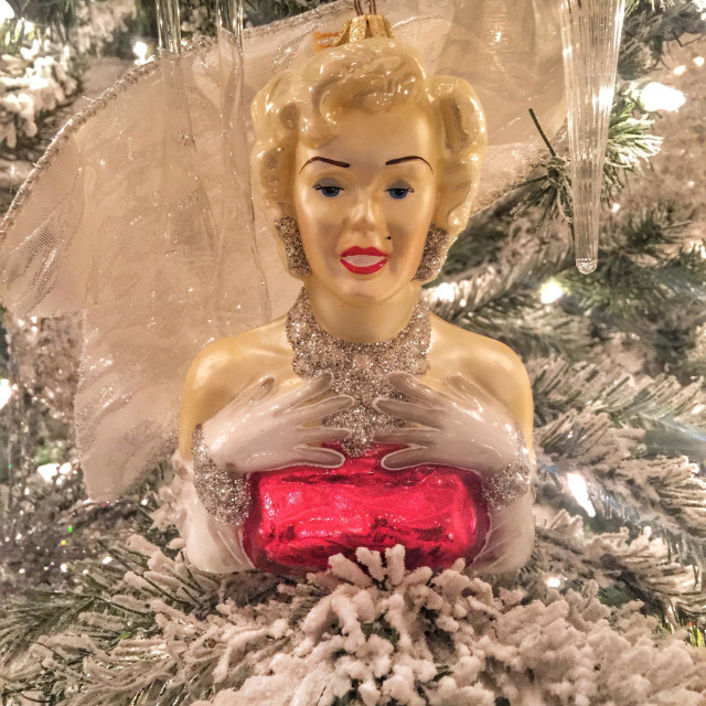 """Marilyn Monroe ornament"" stock image"