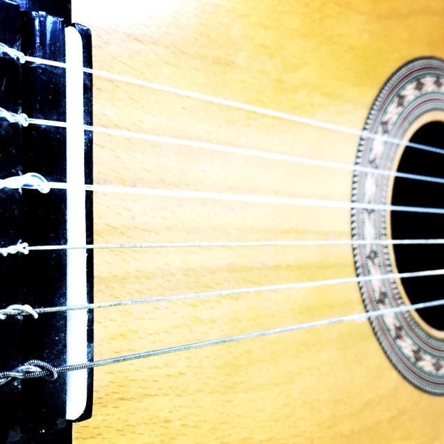 """Classical guitar"" stock image"