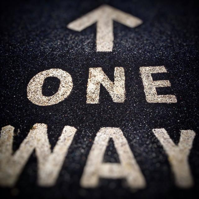 """One way"" stock image"