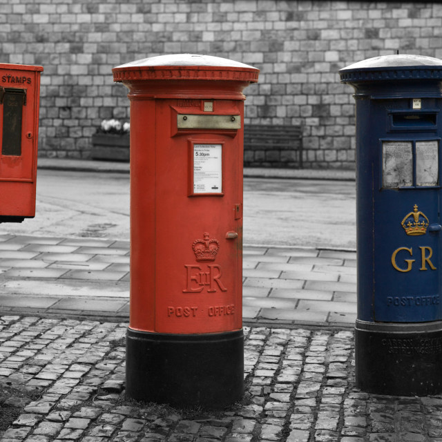 """London Post box, United Kingdom"" stock image"