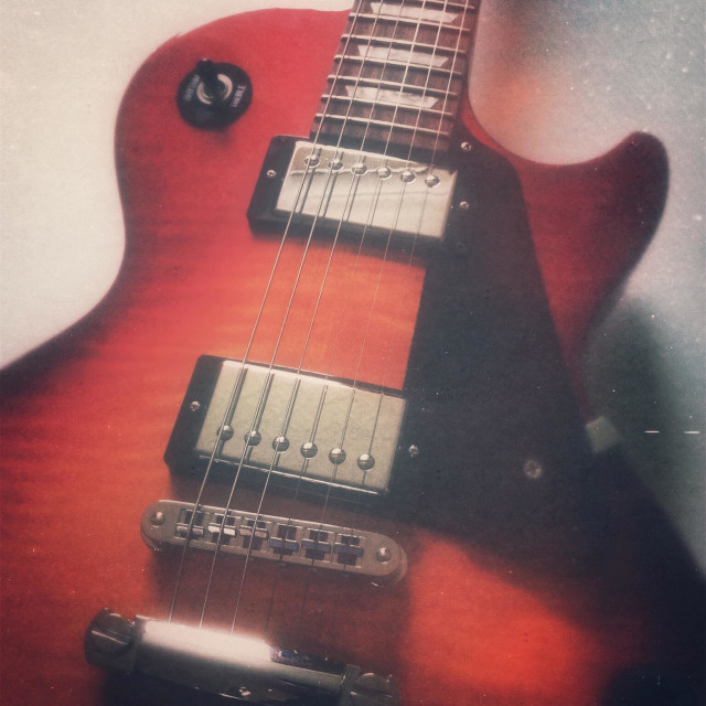 """""""Gibson electric guitar"""" stock image"""