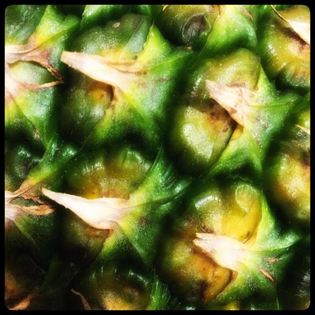 """Pineapple closeup"" stock image"