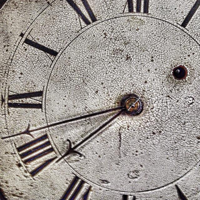 """Antique clock face"" stock image"