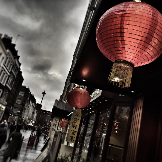 """China Town, London"" stock image"