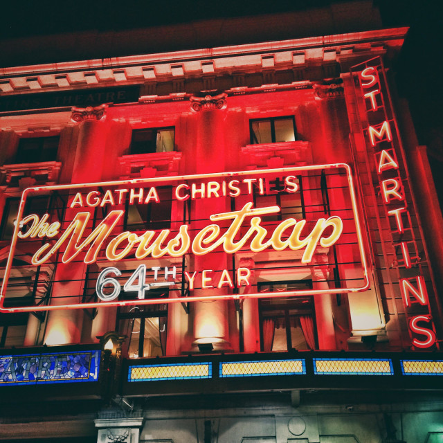"""""""St Martin's Theatre showing The Mousetrap"""" stock image"""