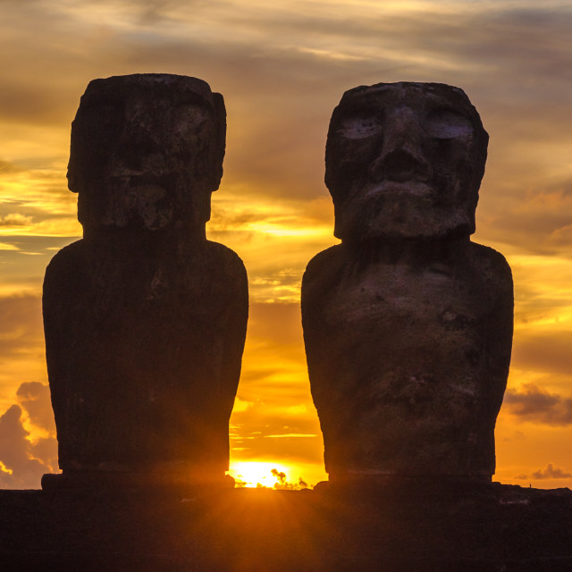 """""""Moai (statues) in Easter Island, Chile"""" stock image"""
