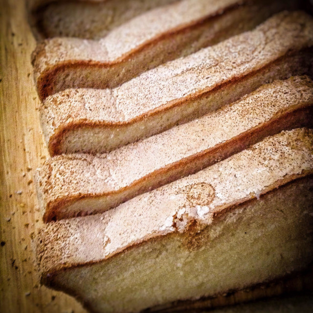 """""""Gluten free home made slices of bread"""" stock image"""