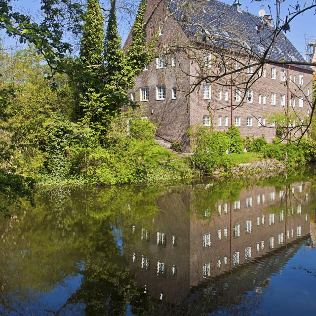 """""""Copenhagen, Denmark - Gustaf Church on the banks of Kastellet fortress"""" stock image"""