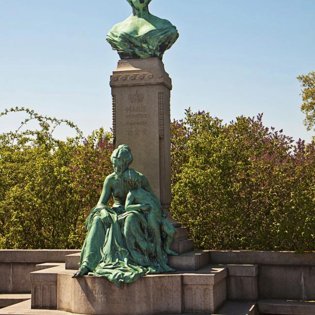 """""""Copenhagen, Denmark - Monument from 1912 of Princess Marie of Denmark"""" stock image"""