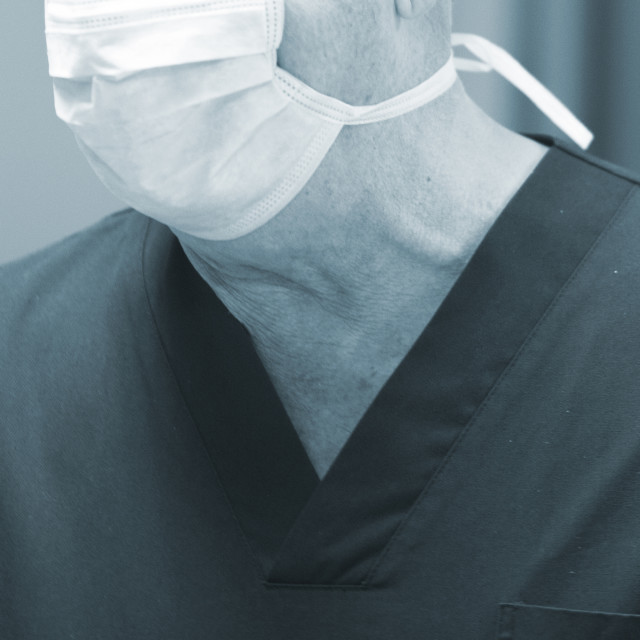 """Surgeon in operating theater"" stock image"