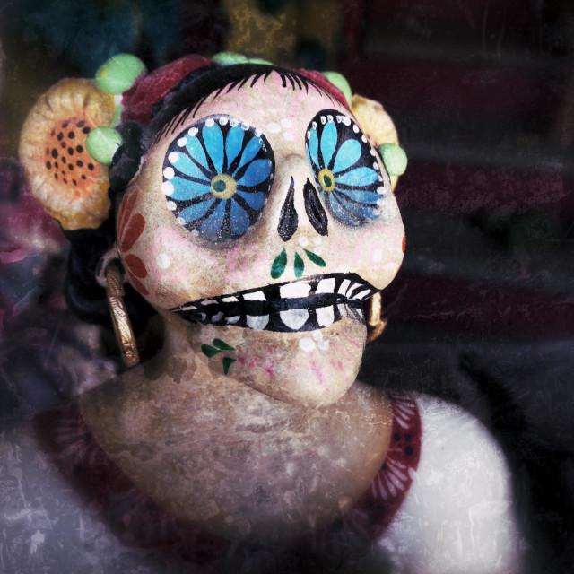 """""""Catrina doll. Sayulita, Riviera Nayarit, Mexico."""" stock image"""