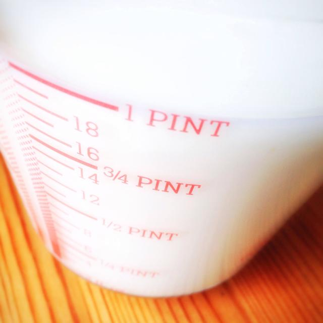 """""""A jug with a pint of milk"""" stock image"""